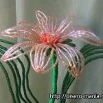 крупные цветы из бисера