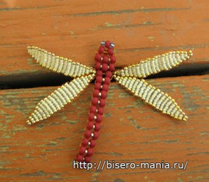 стрекоза из бисера