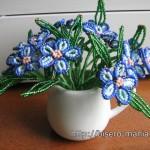 пышные цветы из бисера