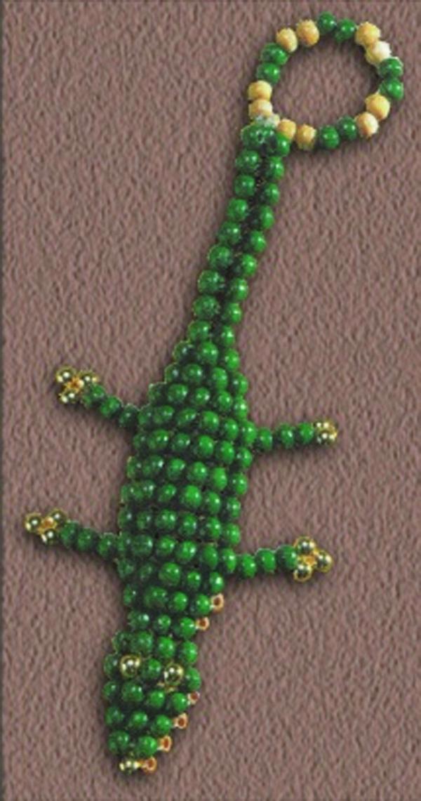 Иногда приятно окружать себя забавными милыми безделушками.  Этот милый изумрудный крокодильчик из бисера очень даже...