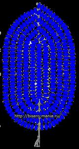 Схема плетения  лепестков тюльпана