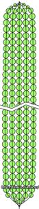 Схема плетения листьев  тюльпана