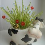 Кашпо в виде коровы