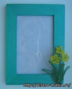 декорирование фото рамки цветами