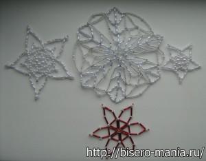 снежинки из бисера своими руками