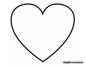 выкройка сердца из фетра